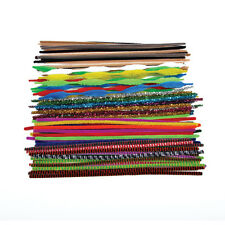 250 Chenille Craft Stems Pipe Cleaners 10 Colours  30cm x 6mm FREE SHIPPING 12""