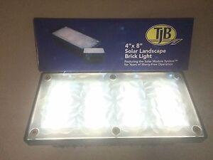 4 inch x 8 inch Solar Brick Paver Landscape Lights for Walks, Patios, Driveways