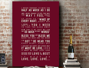 Madness It Must Be Love Inspired Lyrics PRINT | CANVAS GIFT