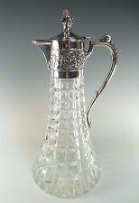 "Roberts & Belk de Plata y Cristal-Jubileo Ltd Ed clarete jarra/jarra - 11 1/2"""
