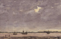 Harry Herbert - Signed 1996 Watercolour, Seascape at Dusk