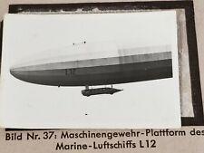 1933 Zeppelin Weltfahrten Cigarette Card German Photo 37 Marine Luftschiff L12