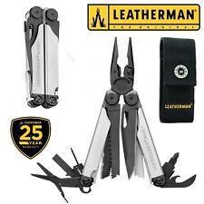 LEATHERMAN WAVE PLUS Black Silver New Version Pinza Multifunzione + Fodero Nylon