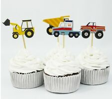 24 pcs Cupcake Cup Cake Decorating,Toppers PARTY DECORATION , Car , vehicles