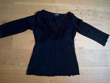 Tee shirt noir Morgan Taille Xs moulant