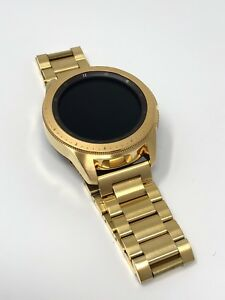 24K Gold Plated 42MM Samsung Galaxy Watch Gold Link Band - CUSTOM - 2018 Model!