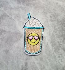 MILK SHAKE SWEET PINK COOL FOOD IRON ON SEW ON PATCH BADGE - UK SELLER