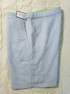 1 NWT B.DRADDY MEN'S TRUNKS, SIZE: SMALL, COLOR: LIGHT BLUE/WHITE STRIPED (J61)