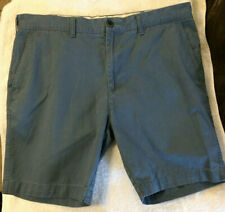 "Men's M&S Collection Chino Shorts W38"" Blue Cotton Summer Casual Travel"