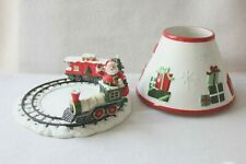 White Barn Candle Santa Train Jar Candle Plate and Shade Presents Mouse