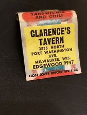 1940s Clarence's Tavern Port Washington Ave Milwaukee WI Sandwiches Chili Legs