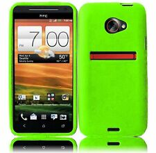 For Sprint HTC EVO 4G LTE Rubber Silicone Skin Case Phone Cover Case Neon Green