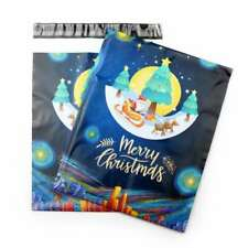 More details for 100 mailer bag 10x13 inch xmas design mailing postal bags for packaging shipping
