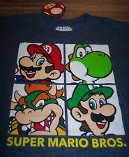 Nintendo Super Mario Bros. MARIO LUIGI  YOSHI BOWSER T-Shirt MEDIUM NEW w/ TAG