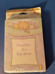 Vintage New In Package Baby Shower Party Invitations American Greeting m10