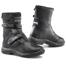 MENS SPEED MAXX CRUISING MOTORBIKE MOTORCYCLE TOURING LEATHER SHOES SHORT BOOTS