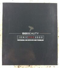 ISO Beauty Ionic 3000 Hair Blow Dryer - Light Weight, Sleek & Quiet - Black