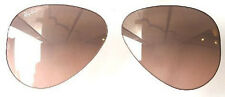 LENTI RICAMBIO RAY BAN 3025 58 3E AVIATOR PINK BROWN SILVER MIRROR REPLACEMENT