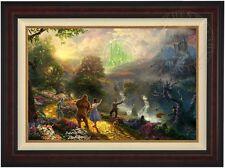 Thomas Kinkade Dorothy Discovers the Emerald City 24x36 LE S/N #15 Burl Frame