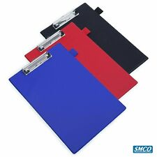 A4 CLIPBOARD Black Red Blue QUALITY PVC Pen Holder  PAPER CLAMP HANGER By SMCO