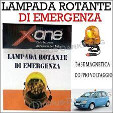 LAMPEGGIANTE ROTANTE DI EMERGENZA LUCE SOS 12V CON BASE MAGNETICA PER AUTO