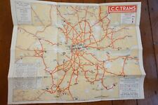 More details for may 1932 lcc trams map & guide timetable underground tube & bus interest vgc