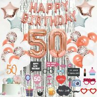50th Birthday Decorations Supplies by Serene Selection, Happy Birthday!!!!