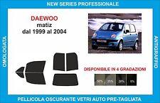 pellicole oscuranti vetri daewoo matiz dal 1999 al 2004 kit completo