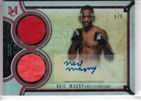 2018 Topps UFC Museum Collection Auto NEIL MAGNY Dual Swatch AUTOGRAPH 6/8 RUBY