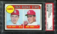1969 Topps Baseball #136 St Louis Cardinals ROOKIE STARS RC ROOKIE PSA 7 NM