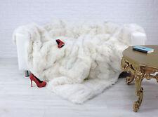 VÉRITABLE LUXE FOX COUVERTURE NATURELLE COULEUR BLANCHE 230cm X 210cm, i895