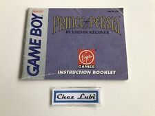 Notice - Prince Of Persia - Nintendo Game Boy - NTSC USA