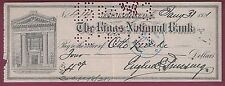Eugene Ernst Prussing, American Author, Signed Check, COA, UACC RD 036