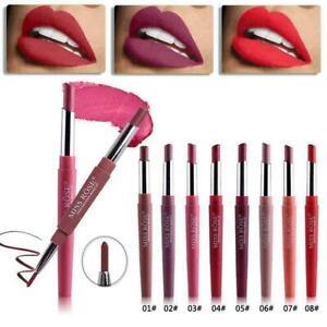 Double Head Long Lasting Waterproof Pencil Lipstick Pen Matte Lip Liner Makeup