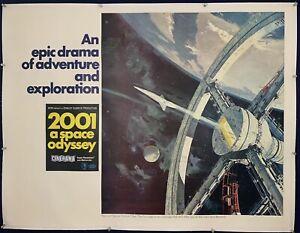 2001 A SPACE ODYSSEY Cinerama Subway Movie Poster 1968 Stanley Kubrick on LINEN