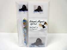 Black Poodle List Pad Note Pad Magnet Pen Stationery Gift Pack By Ruth POD-13