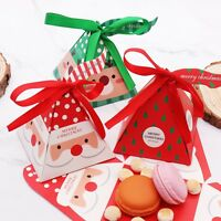 Santa Christmas Tree Candy Box Cookie Chocolate Gift Box For Xmas Party Decor