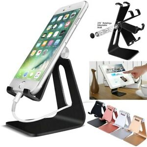 Cell Phone Stand Tablet Switch Aluminum Desk Table Holder Cradle Dock for iPhone