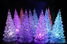 Christmas Xmas Tree !!!Colorful Changing plastic LED Light Lamp 13x6cm