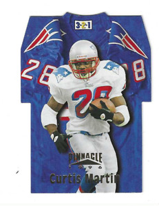 CURTIS MARTIN 1996 PINNACLE 1-2-3 JERSEY DIE CUT $20.00 NY JETS HALL OF FAME