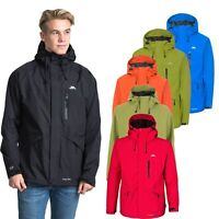 Trespass Corvo Mens Waterproof Jacket Windproof Casual Raincoat with Hood