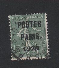 Préoblitéré N°25 15 c semeuse poste Paris 1920