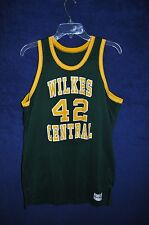 VTG '80s Wilkes Central HS Wilkesboro NC Medalist Sand Knit green mesh jersey S