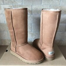 UGG Australia Classic Tall Chestnut Suede Youth Kid Boots Size US 6 fit Women 8