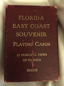 Vintage Deck Of Bridge Playing Cards Florida Souvenir