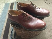 Bacco Bucci Size 15 Brown Leather Oxford Lace Up Men's Shoes Made in Italy