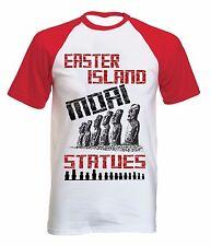 EASTER ISLAND MOAI STATUES - NEW COTTON BASEBALL TSHIRT ALL SIZES