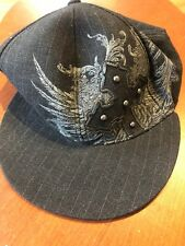 MMA Elite Baseball Cap Hat L/XL Fitted Black Gray Mixed Martial Arts Cross