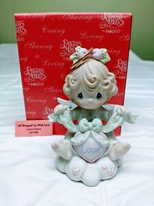 Precious Moments Figurine - All Wrapped Up With Love - #117795: Pre-Owned