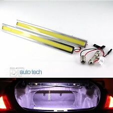 2x Silver 6W LED COB Trunk Cargo License Plate Reverse Light Bar Universal